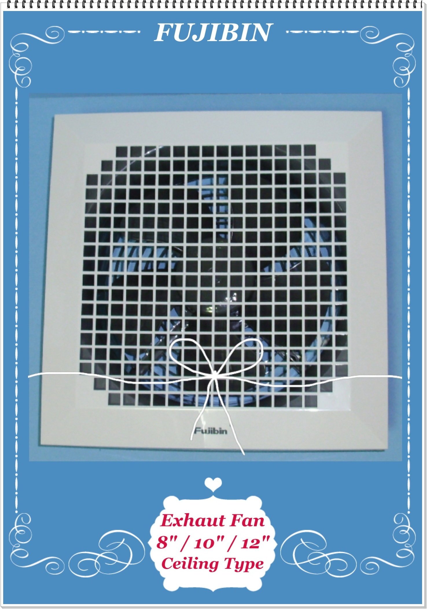 We Also carry the Ceiling Exhaust Fan With side Ducting Pipe type for
